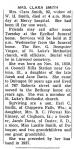 Obituary: Clara (Davis) Smith