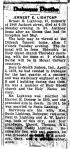 Obituary: Ernest Lightcap