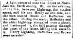 Levi Lightcap shot and killed