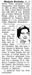 Obituary: Marjorie Strelesky