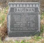 Headstone: Nicholas Sr and Mary (Casper) Bausman