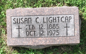 Headstone: Susan (Lensing) Lightcap
