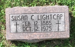 Headstone: Susan (Lensing) Lightcap