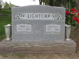 Headstone: Paul and Luella Lightcap