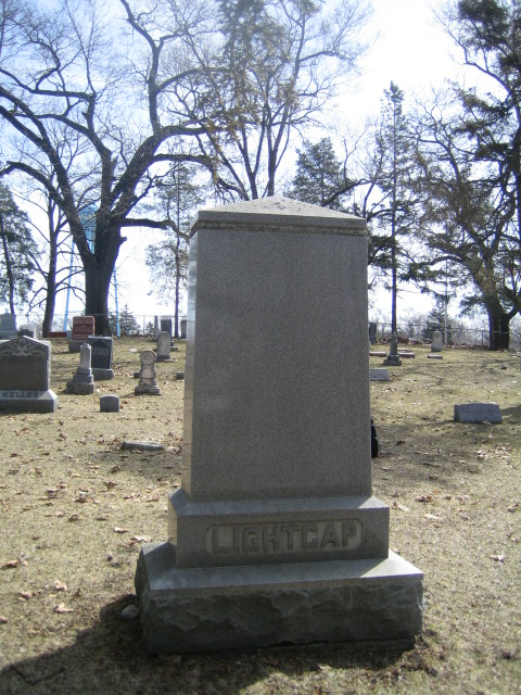 Levi Lightcap Family Headstone