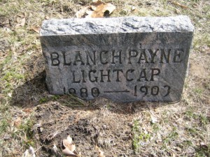 Headstone: Blanche (Payne) Lightcap