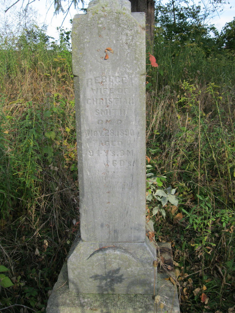 Headstone: Rebecca (Firestone) Smith
