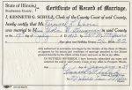 Marriage: Viola Bausman and Percy Davis