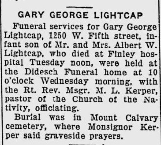 Obituary: Gary George Lightcap