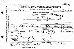 Marriage: Edna Mae Lightcap and Carl Alfred Christensen