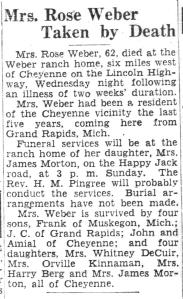 Obituary: Rose (Streletzky) Weber
