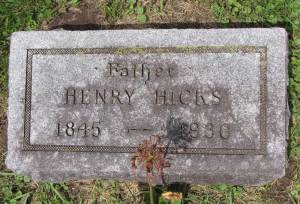 Headstone: Henry Hicks Jr