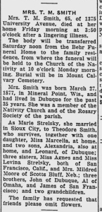 Obituary: Marie (Strelesky) Smith