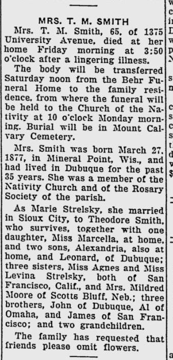 Obituary: Marie (Strelesky) Smith