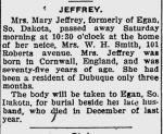 Obituary: Mary (Davies) Jeffery