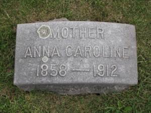 Headstone: Anna Caroline (Hebenstreit) Stephan