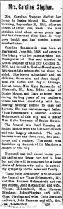 Obituary: Anna Caroline (Hebenstreit) Stephan