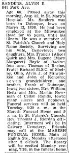Obituary: Alvin Sanders