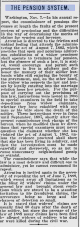 Discusses the Pension System regarding the Act of August 7, 1882