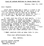 Letter from George Davies to Jacob Davis 3rd