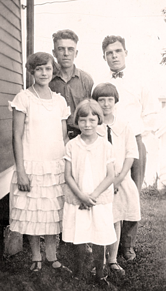 (l-r) Alice, Jack, Marjorie, Eunice and Herb Strelesky