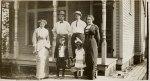 (adults, left to right) Ernestine (Sanders) Strelesky, Jack Strelesky, Burt MacDonough, Norma (Sanders) MacDonough; (kids) Herbert and Alice Strelesky
