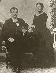 Lawrence Bausman and Minnie Benz 1886 wedding