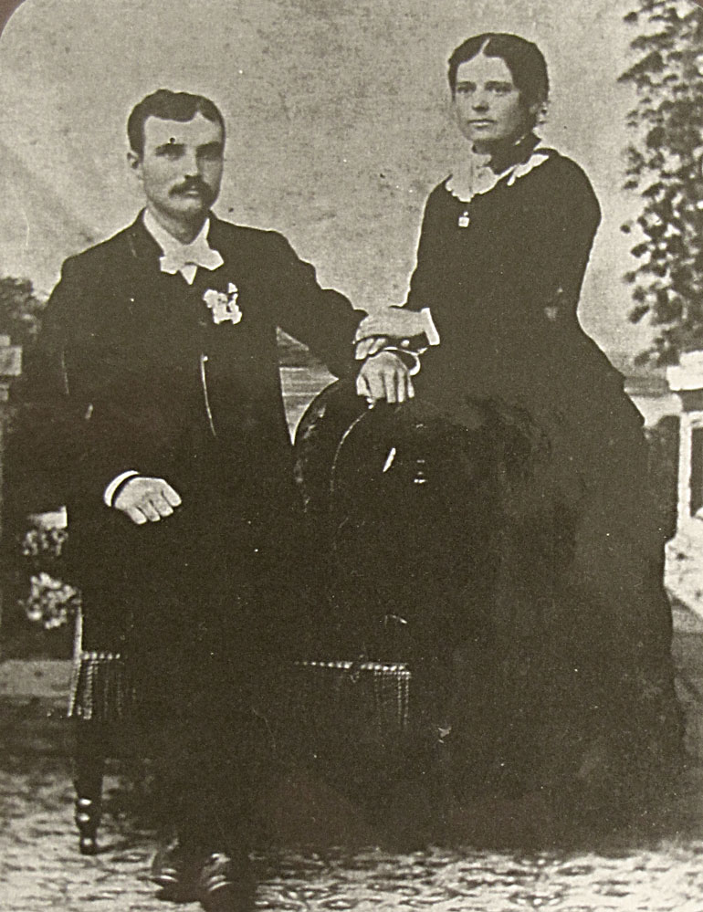 Lawrence Bausman and Minnie Benz 1886 wedding