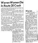 Iva (Bausman) Leverton Car Accident
