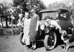 Hazel Bausman with Lawrence, Minnie and Wayne Bausman