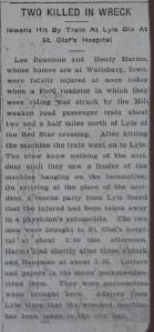 Lee Bausman and Henry Harms Hit By Train, Die