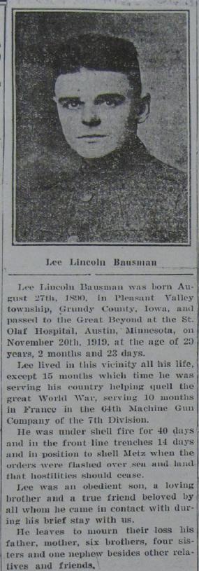 Obituary: Lee Lincoln Bausman
