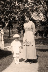 Hazel Bausman and her nephew Spud Davis