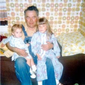 Grandpa Davis with me and my cousin Dan Schoenholtz