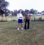 With my cousin Dave Davis, or as he was known then  Gussie