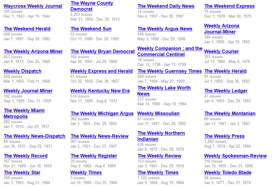 Google Newspaper Archive Snapshot
