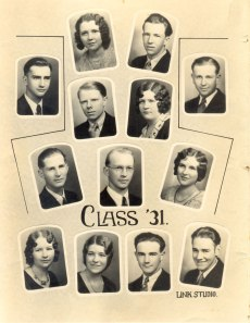 Class of 1931 Scales Mound High School John Fellenzer, upper right corner Photo courtesy: Jack Fellenzer, son of John Fellenzer